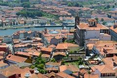 Вид с воздуха города Порту старый, Португалия Стоковая Фотография RF