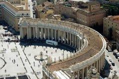 Вид с воздуха города Рима от крыши базилики St Peter Стоковое фото RF