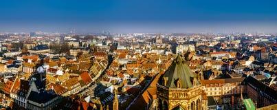 Вид с воздуха города страсбурга от башни Стоковое фото RF