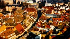 Вид с воздуха города страсбурга от башни Стоковое Фото