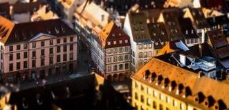 Вид с воздуха города страсбурга от башни Стоковые Фото