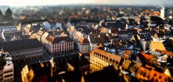 Вид с воздуха города страсбурга от башни Стоковая Фотография