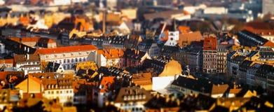 Вид с воздуха города страсбурга от башни Стоковые Изображения