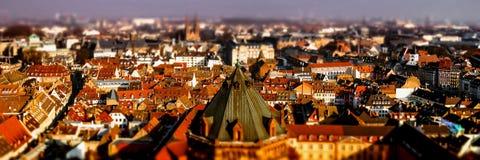 Вид с воздуха города страсбурга от башни Стоковое Изображение RF