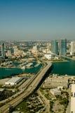 Вид с воздуха города Стоковое Изображение