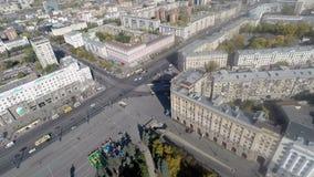 Вид с воздуха города акции видеоматериалы