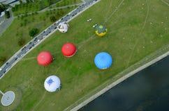 Вид с воздуха городка Вильнюса, Литвы Стоковые Изображения RF