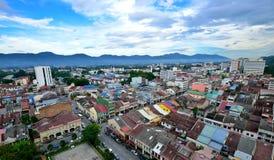 Вид с воздуха городка Ipoh Стоковое Изображение RF