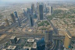 Вид с воздуха городского Дубая стоковое фото rf