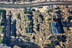 Вид с воздуха городского Дубая Стоковая Фотография