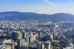 Вид с воздуха городского пейзажа Киото городского Стоковое Изображение RF