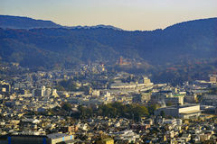 Вид с воздуха городского пейзажа Киото городского Стоковые Фото