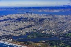 Вид с воздуха городского пейзажа Сан-Франциско городского Стоковая Фотография RF