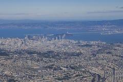 Вид с воздуха городского пейзажа Сан-Франциско городского Стоковое Фото