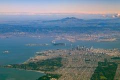 Вид с воздуха городского пейзажа Сан-Франциско городского Стоковое Изображение RF