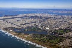 Вид с воздуха городского пейзажа Сан-Франциско городского Стоковое фото RF