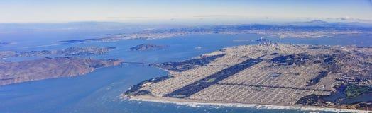 Вид с воздуха городского пейзажа Сан-Франциско городского Стоковые Фото