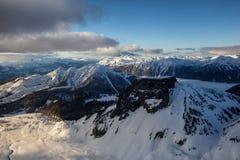 Вид с воздуха горы таблицы стоковое фото rf