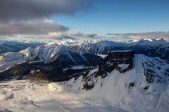 Вид с воздуха горы таблицы стоковые изображения rf