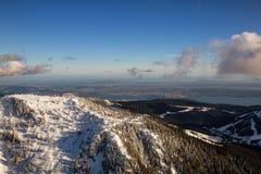Вид с воздуха горы Cypress стоковое изображение rf