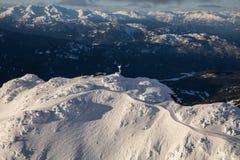 Вид с воздуха горы Whistler стоковое изображение rf