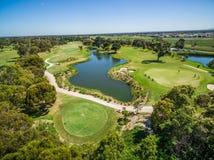 Вид с воздуха гольф-клуба реки Patterson, Мельбурна, Австралии Стоковые Изображения