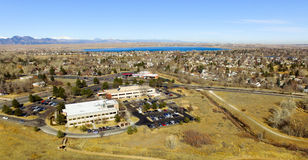 Вид с воздуха Денвера в Колорадо Стоковая Фотография RF