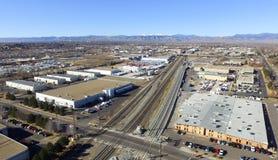 Вид с воздуха Денвера в Колорадо Стоковые Изображения RF