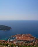 Вид с воздуха Дубровника Стоковые Изображения
