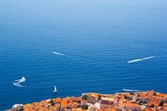 Вид с воздуха Дубровника Стоковые Изображения RF
