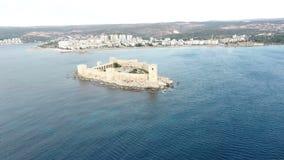 Вид с воздуха девичьего замка Kiz Kalesi ` s видеоматериал