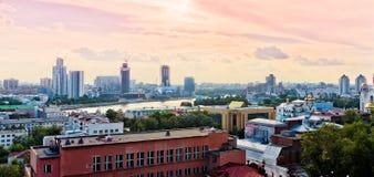 Вид с воздуха Екатеринбурга 26-ого июня 2013 Стоковое Фото