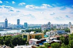 Вид с воздуха Екатеринбурга Стоковое фото RF