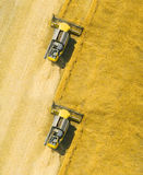 Вид с воздуха жатки зернокомбайна Стоковое фото RF
