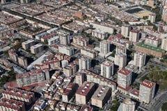 Вид с воздуха жилого района в Малаге. Стоковое Фото