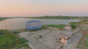 Вид с воздуха залива около моря и озера акции видеоматериалы