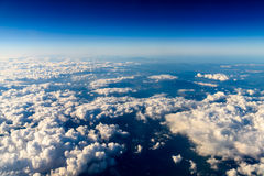 Вид с воздуха земли планеты как увидено от 40 000 футов Стоковая Фотография