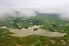 Вид с воздуха земли Стоковые Изображения