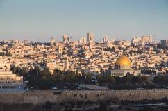 Вид с воздуха Иерусалима, Израиля стоковое изображение rf