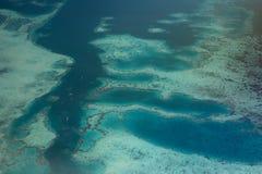 Вид с воздуха индонезийских рифов Стоковые Фото