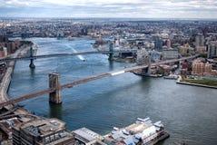 Вид с воздуха Ист-Ривер, Манхаттан, бронкс, и ферзи Стоковое Фото