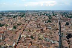 Вид с воздуха Италии, болонья от башни Asinelli Стоковые Фото