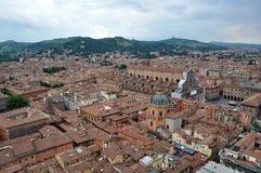 Вид с воздуха Италии, болонья от башни Asinelli Стоковая Фотография