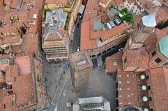 Вид с воздуха Италии, болонья от башни Asinelli Стоковое Изображение RF