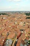 Вид с воздуха Италии, болонья от башни Asinelli Стоковое Изображение