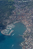 Вид с воздуха Италии деревни Rapallo Стоковое Фото