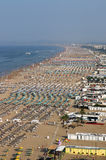 Вид с воздуха Италии пляжа Римини Стоковое Фото