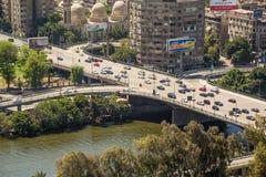 Вид с воздуха Каира Стоковое фото RF