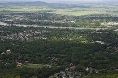 Вид с воздуха канадского пригорода Стоковые Фотографии RF