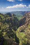 Вид с воздуха каньона Waimea, Кауаи, Гаваи стоковая фотография